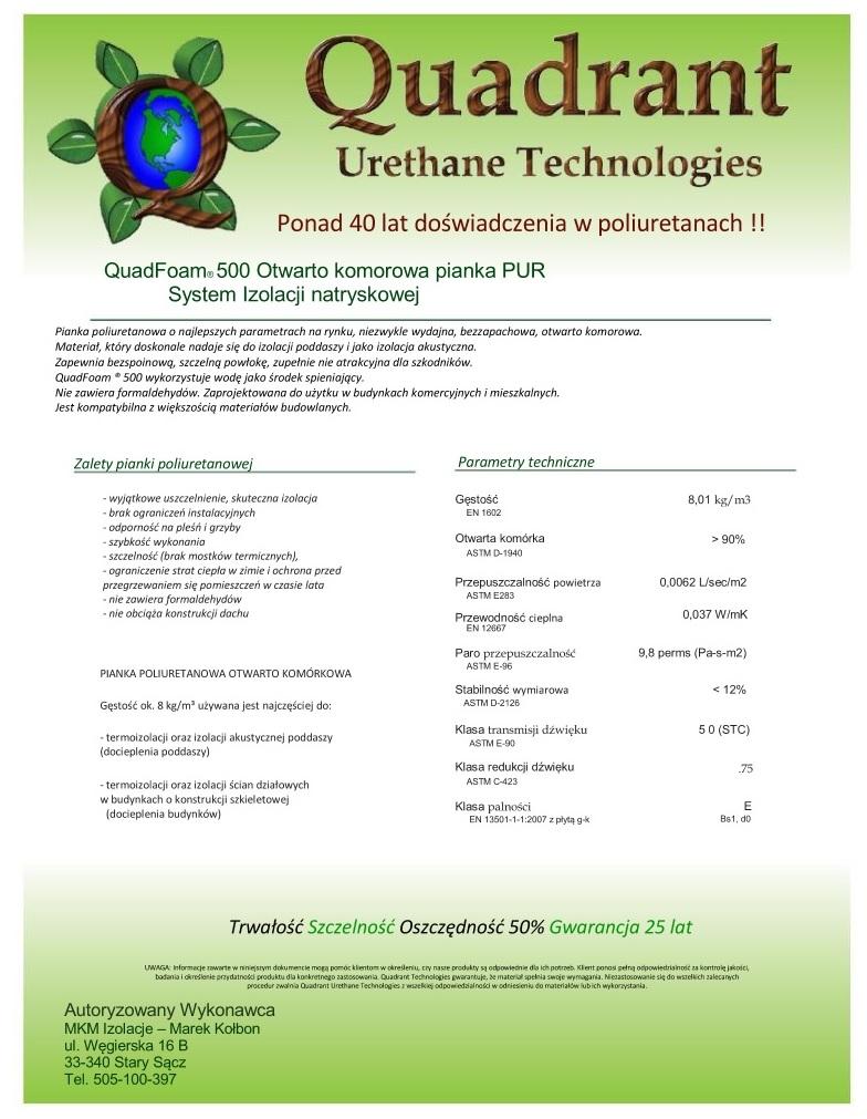 QuadFoam 500 - JPEG - INFormacje.